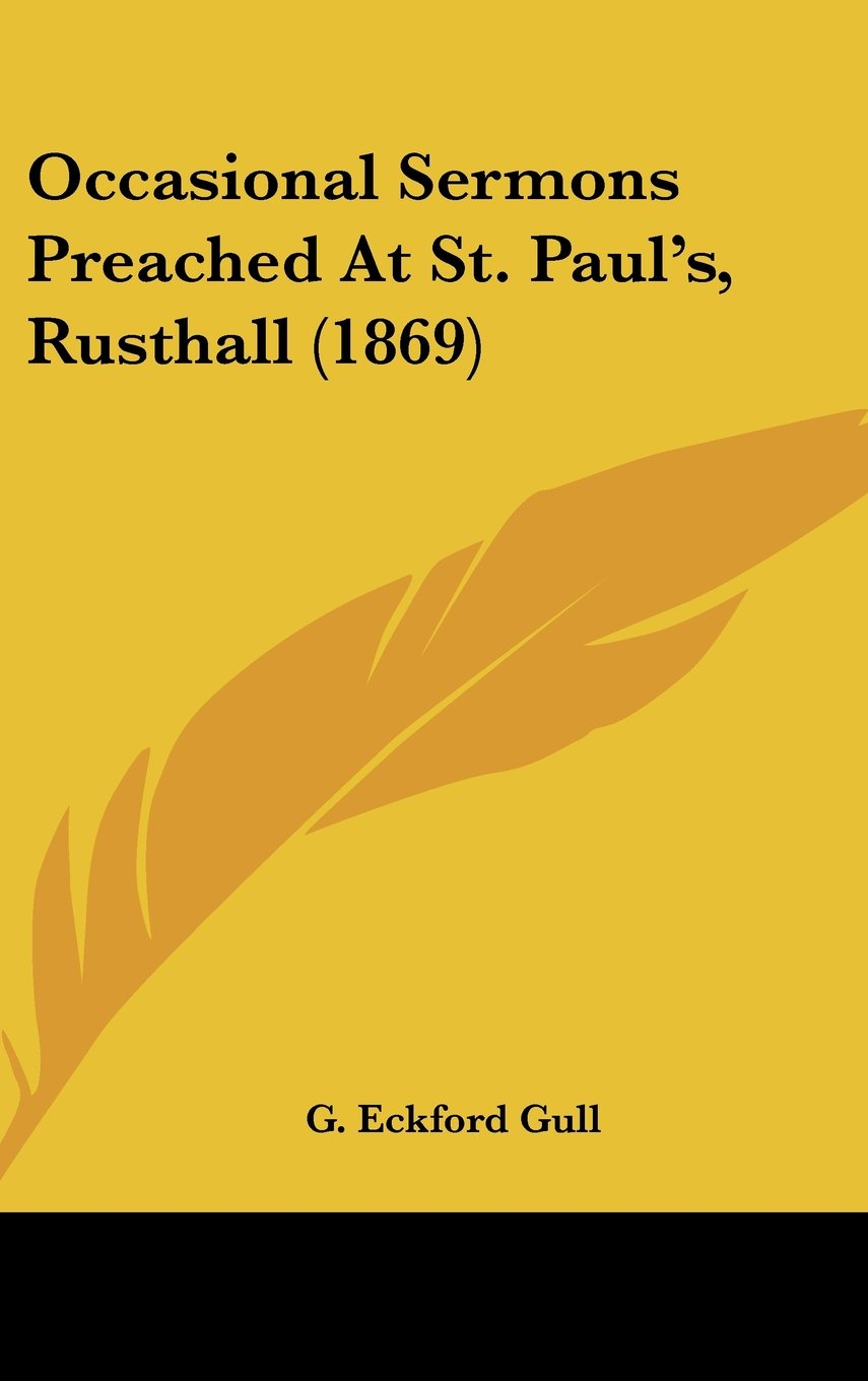 Download Occasional Sermons Preached At St. Paul's, Rusthall (1869) pdf epub