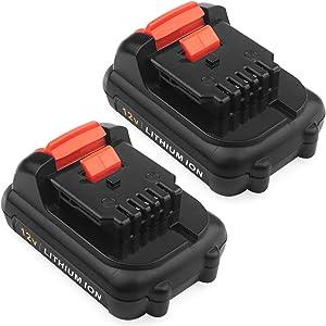 Advtronics 2 Pack 3.0Ah 12V Max Lithium Ion Battery Compatible with 12V Dewalt DCB120 DCB123 DCB122 DCB127 DCB124 DCB121 12V Dewalt Battery
