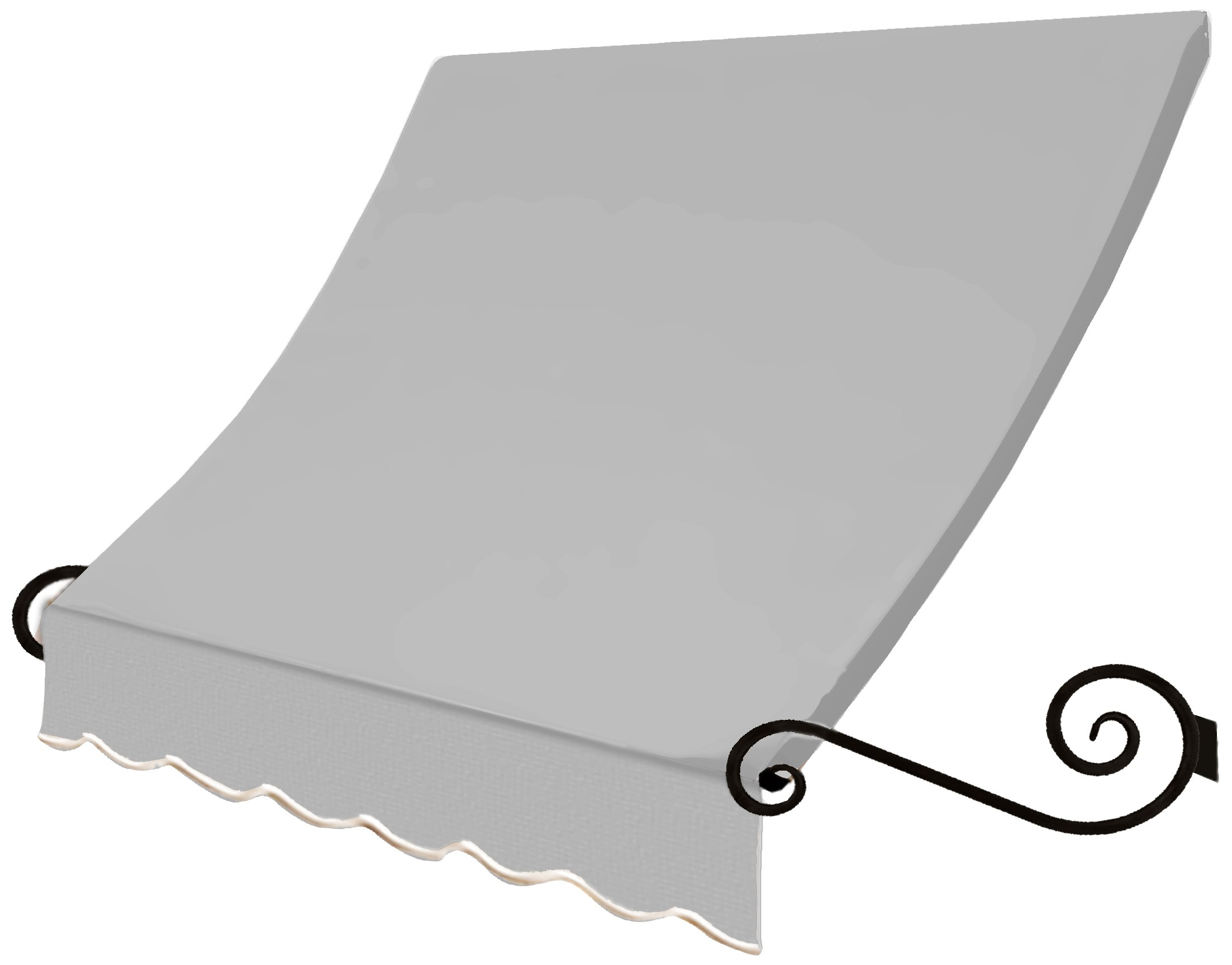 Awntech 3-Feet Charleston Window/Entry Awning, 24 by 12-Inch, Gray