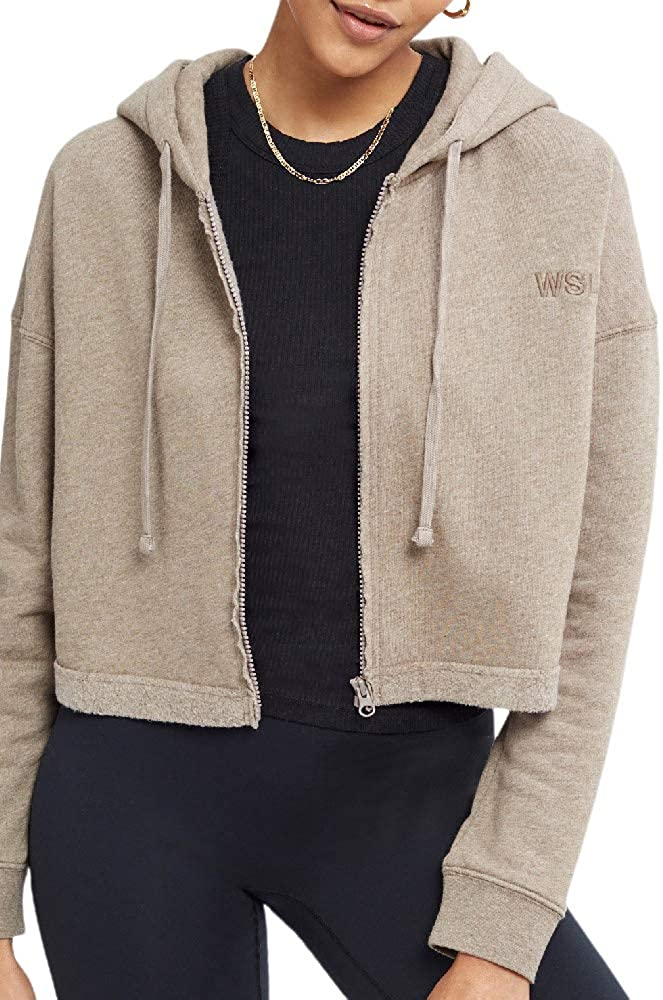 Bandier x WSLY Ecosoft Hoodie Max 74% Gifts OFF Cropped Up Zip