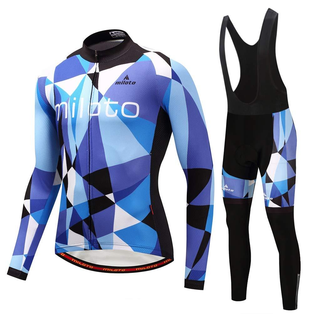 全てのアイテム Uriah Men Blue 's Cycling Jersey andブラックBibパンツ熱フリースセット長袖反射 L Chest 40.9''=Tag L 's Blue Space B07JYC7KP7, 菊川町:209d3005 --- arianechie.dominiotemporario.com