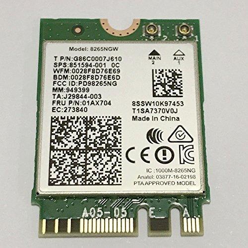 Dual Band Wireless- AC 8265 8265AC NGFF Wifi Card USE FOR Intel 8265 AC AC8265 8265NGW M.2 NGFF 2.4/5GHz Bluetooth 4.2 Wireless WiFi Card 867 - Intel Wireless