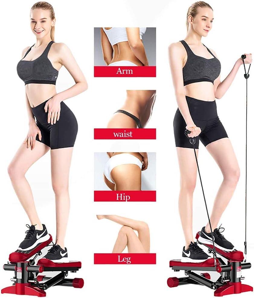 Up-Down-Stepper Home Trainer con Display Multifunzione Movimento Laterale e Rotante Valido Sia per Principianti Che Esperti,Argento Mini Stepper Fitness