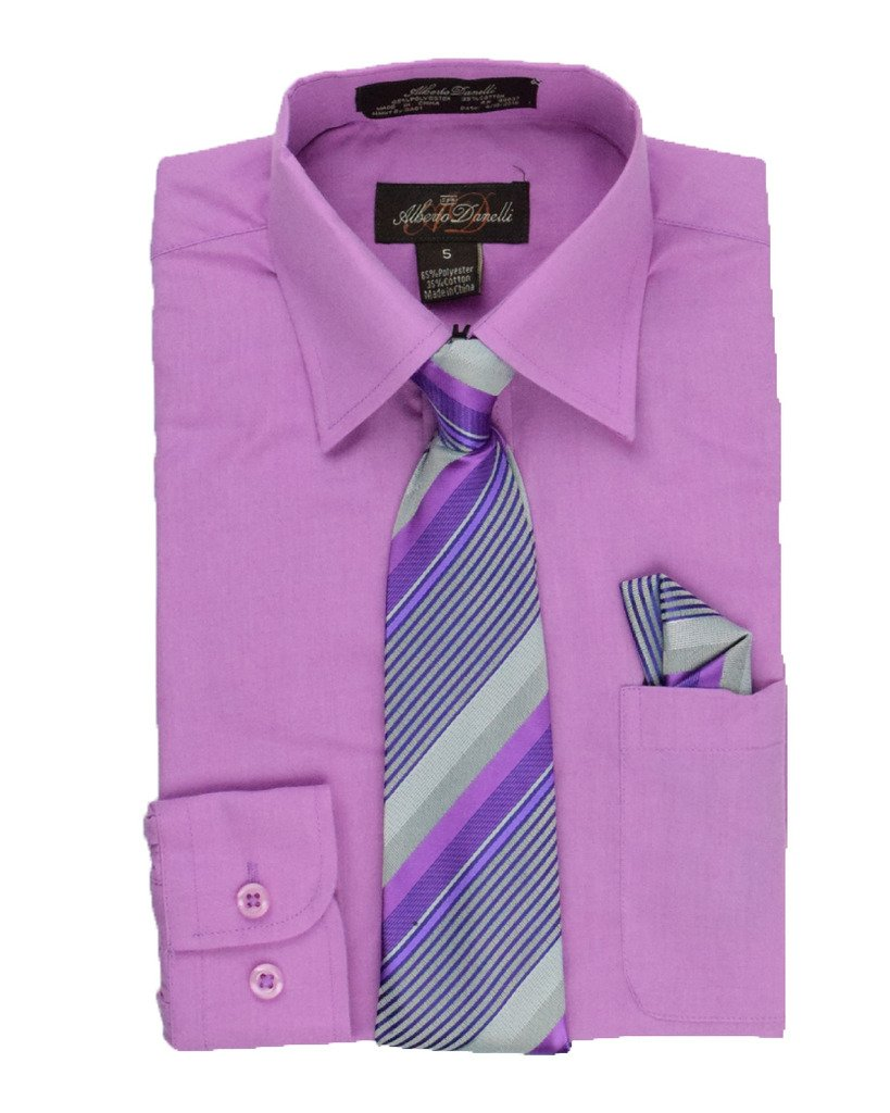 Galleon Alberto Danellis Boys Long Sleeve Dress Shirt With