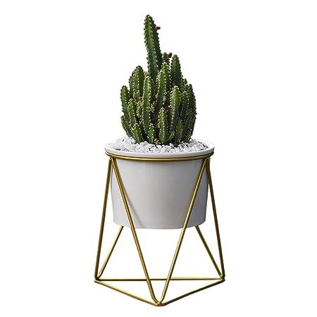 Flower Pot,Geometric Wall Decor Container Triangular Iron Art Simple ...