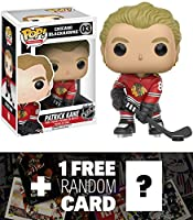 Patrick Kane - Chicago Blackhawks: Funko POP! x NHL Vinyl Figure + 1 FREE Official NHL Trading Card Bundle (112093)