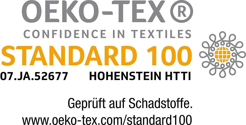 Federa con cerniera /ÖKO-TEX STANDARD Pacco doppio federe ca Set da 2 federe in microfibra 40 x 40 cm, bianco 95 g//m/²