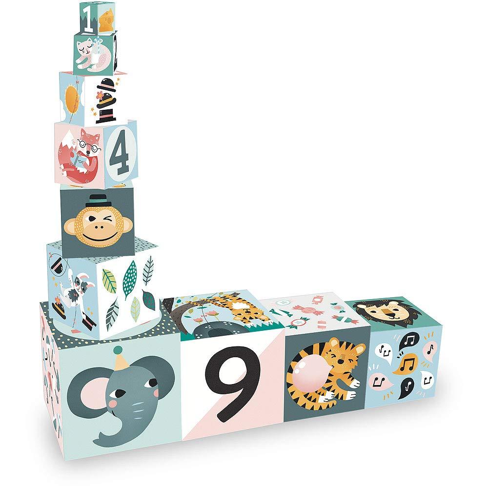 Les Animaux 8501 Carton Cubes Gigognes Vilac
