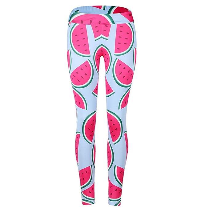Yoga Leggings Leggins De Las Mujeres Deportes Pantalones Sandías Presión Altura De La Cintura Fitness Pantalones Opaco Medias Deporte Shorts Liga Pantalones ...