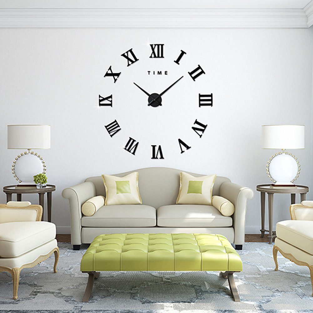 pendule murale design inox top horloge cuisine design vente chaude d diy miroir horloge murale. Black Bedroom Furniture Sets. Home Design Ideas
