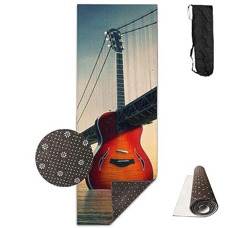 Vercxy - Esterilla de Yoga para Puente de Guitarra, con Forro ...