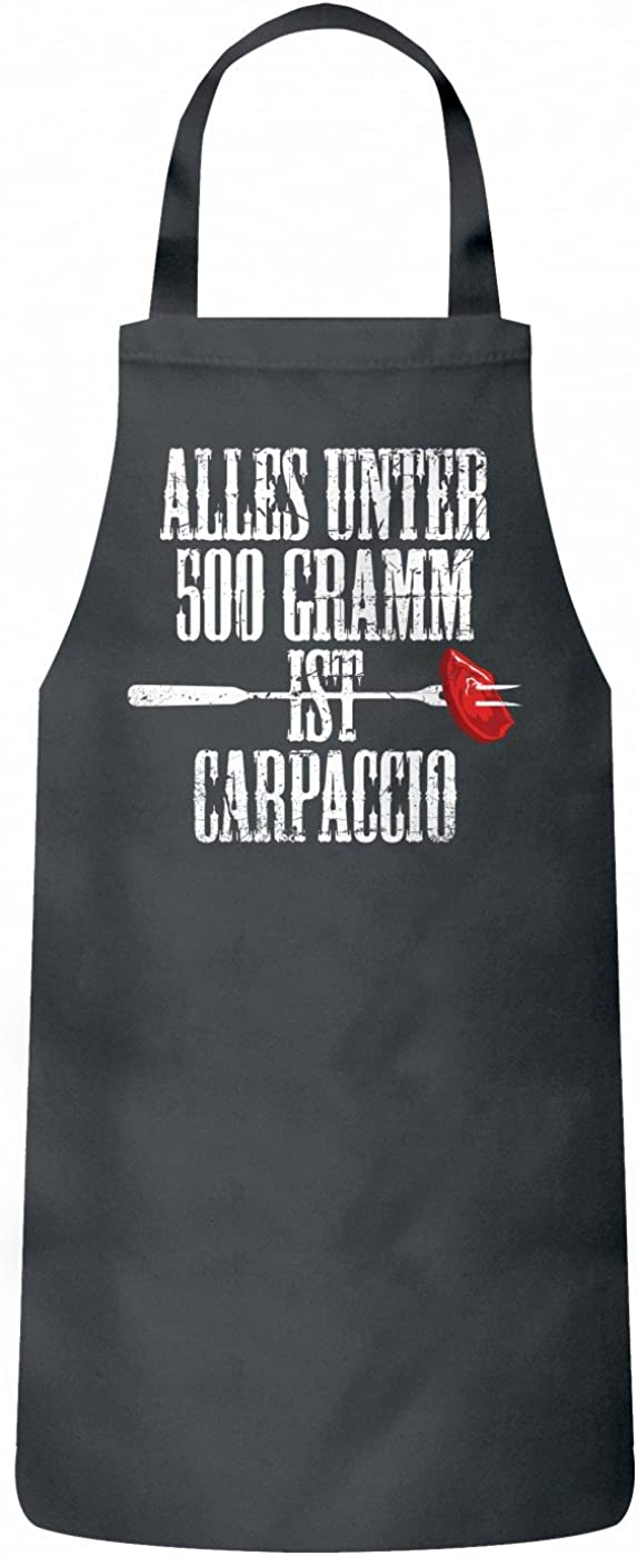 Shirt Happenz Grillen Carpaccio Sch/ürze Grillen Barbecue BBQ Kochen /& Backen Grillsch/ürze