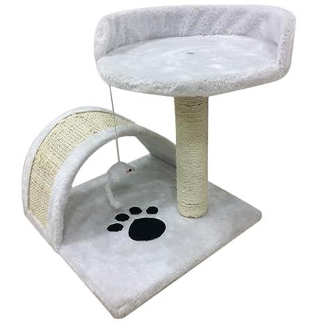 Homgrace - Tumbona de Juguete para Gato con Plataforma para rascar y Jugar, Centro de