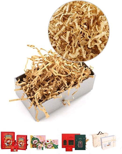 Chytaii 5pcs Relleno de Papel en Tiras para Embalaje de Regalo Relleno de Cajas Relleno Kraft Marrón Claro para Regalo de Navida 150g: Amazon.es: Hogar