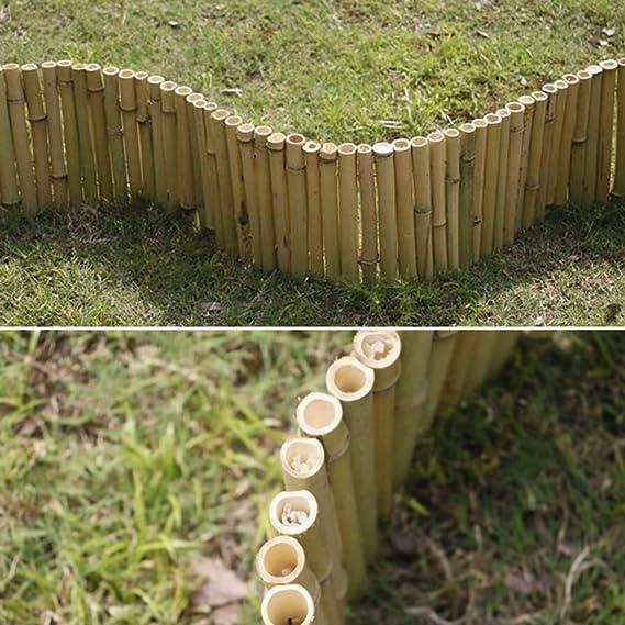 ZHANWEI Valla de jardín Bambú Madera Plegable Bordura de jardín ...