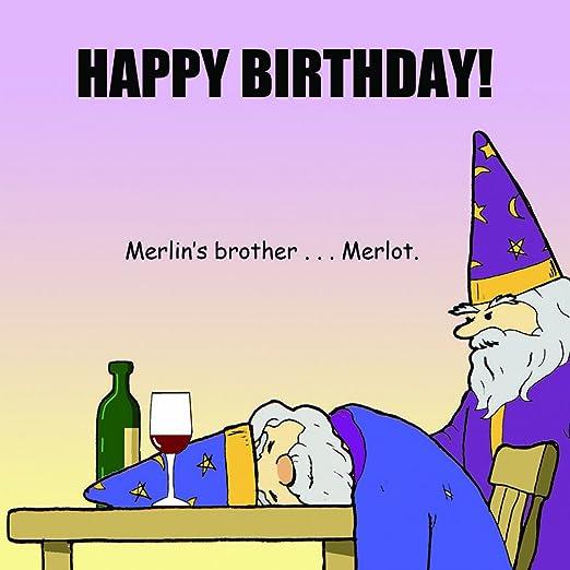 Tarjeta de cumpleaños Twizler divertido con Merlin el Mago Y ...
