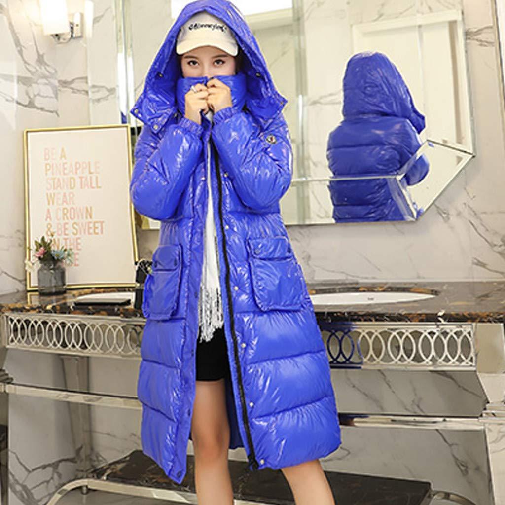 NUSGEAR Daunenjacke Damen Mantel Winter Jacke Ultraleicht Steppjacke Parka Outwear Daunenmantel Coat Warme Steppmantel Mittellange einfarbig gepolsterte Kleidung aus Baumwolle