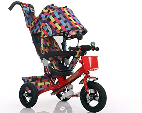 &Carrito de bebé Triciclo del bebé, pedal convertible Trike empuja la bicicleta triciclo fácil del