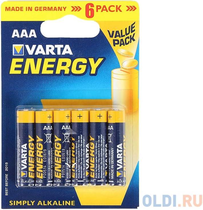 Varta 4103 - Pack de 6 pilas alcalinas AAA, color azul: Amazon.es: Electrónica