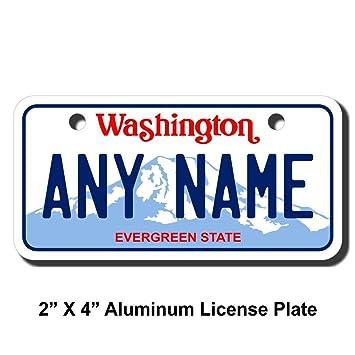 Amazon.com: Teamlogo personalizado Washington License Plate ...