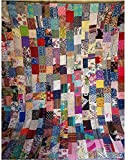 Jaipurtextilehub Cotton Patchwork 90x108 Inch Home Decorative Kantha Quilt