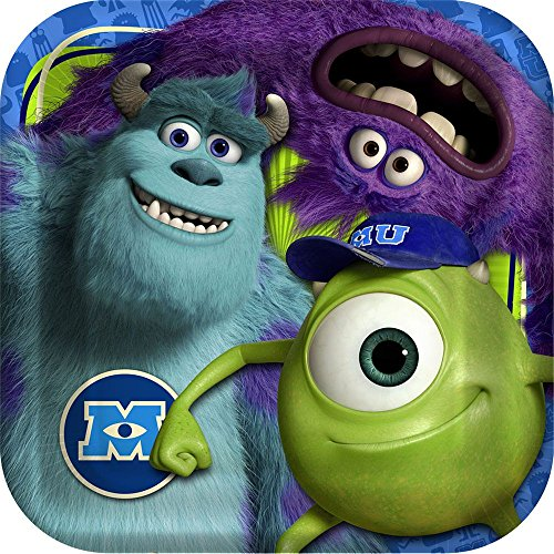 Disney Monsters Inc. Dinner Plates - 8 (Art Monsters University Halloween Costume)