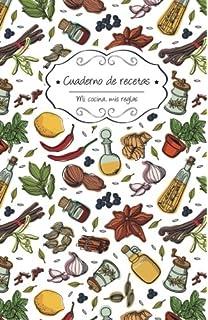 Cuaderno de recetas en blanco: Comida picante (Mi cocina, Mis reglas) (