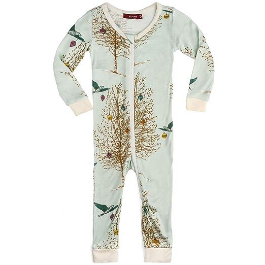 MilkBarn Bamboo Christmas Zipper Pajama - Christmas Birds (3-4 Years) e6930df31