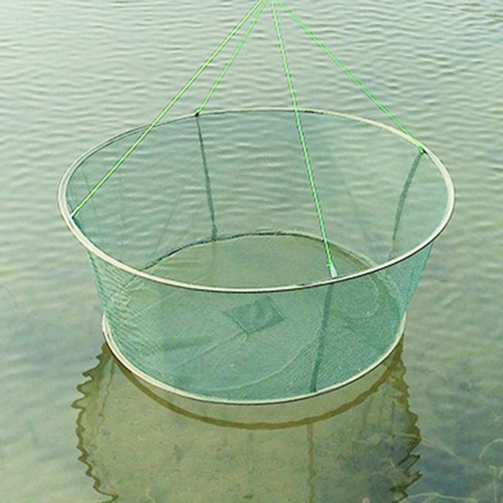 Vaugan Fischernetz Faltbare Drop Net Angeln Landing Garnelen K/öder Krabben Garnelen Pier Harbor Pond Mesh