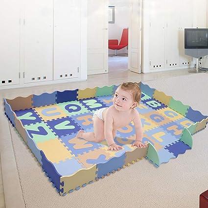 18 Pack Eva Foam Soft Play Mats Interlocking Kids Activity Set Floor 31 cm Tiles