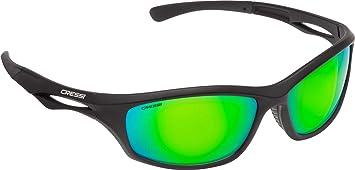f9982f744c Cressi Sniper Sunglasses Gafas de Sol Deportivo Unisex Adulto, Negro/Lentes  Espejadas Verde,