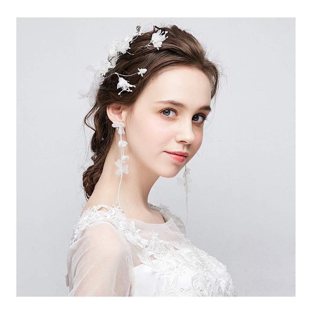 Wreath Flower Bride Headdress Vacation Jewelry Fake Wedding Wedding Jewelry Photography Photo Board Headdress (Size : 22cm)