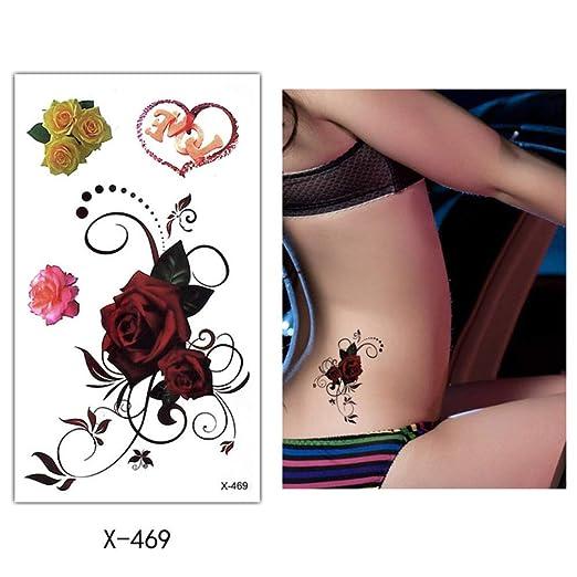 adgkitb 5pcs Flor Cuerpo Tatuaje Arte Temporal Impermeable Tatuaje ...