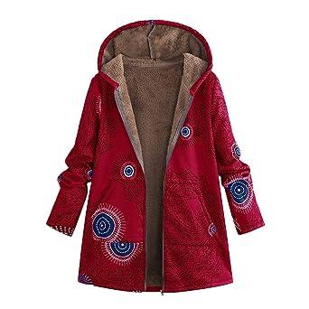 Abrigos de otoño Invierno, Dragon868 Moda Vintage Estilo Floral Abrigos de Gran tamaño con Capucha para Mujeres Adolescentes niñas: Amazon.es: Ropa y ...
