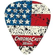 ChromaCast CC-DP-USA-88-10PK USA Flag Delrin Guitar Picks .88mm, Heavy Dura, 10 Pack