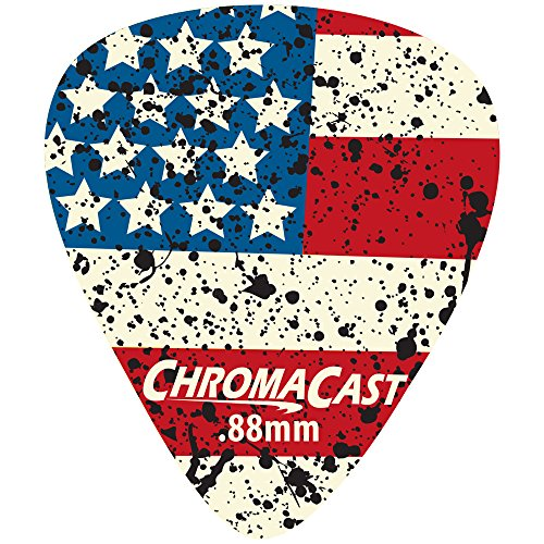 ChromaCast CC-DP-USA-88-10PK USA Flag Delrin Guitar Picks .88mm, Heavy Dura, 10 Pack (Guitar Pick Usa)