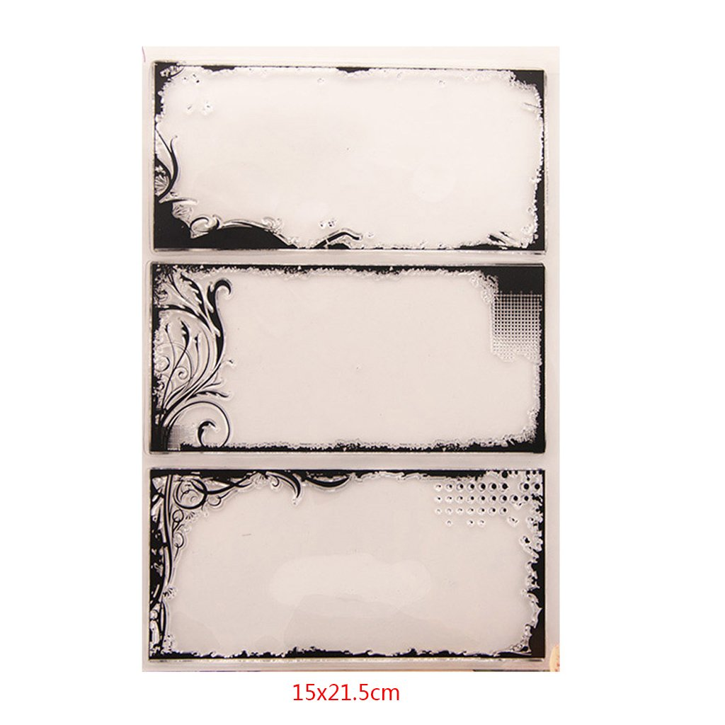 wiffe tarjeta transparente silicona caucho Junta sello DIY /álbum fotogr/áfico Scrapbooking tarjeta Decor