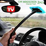 WINDSHIELD WONDER - Car Windscreen Cleaner Tools From Inside Window Glass Cleaning Tools Great for Fog & Moisture Removal (Light blue)
