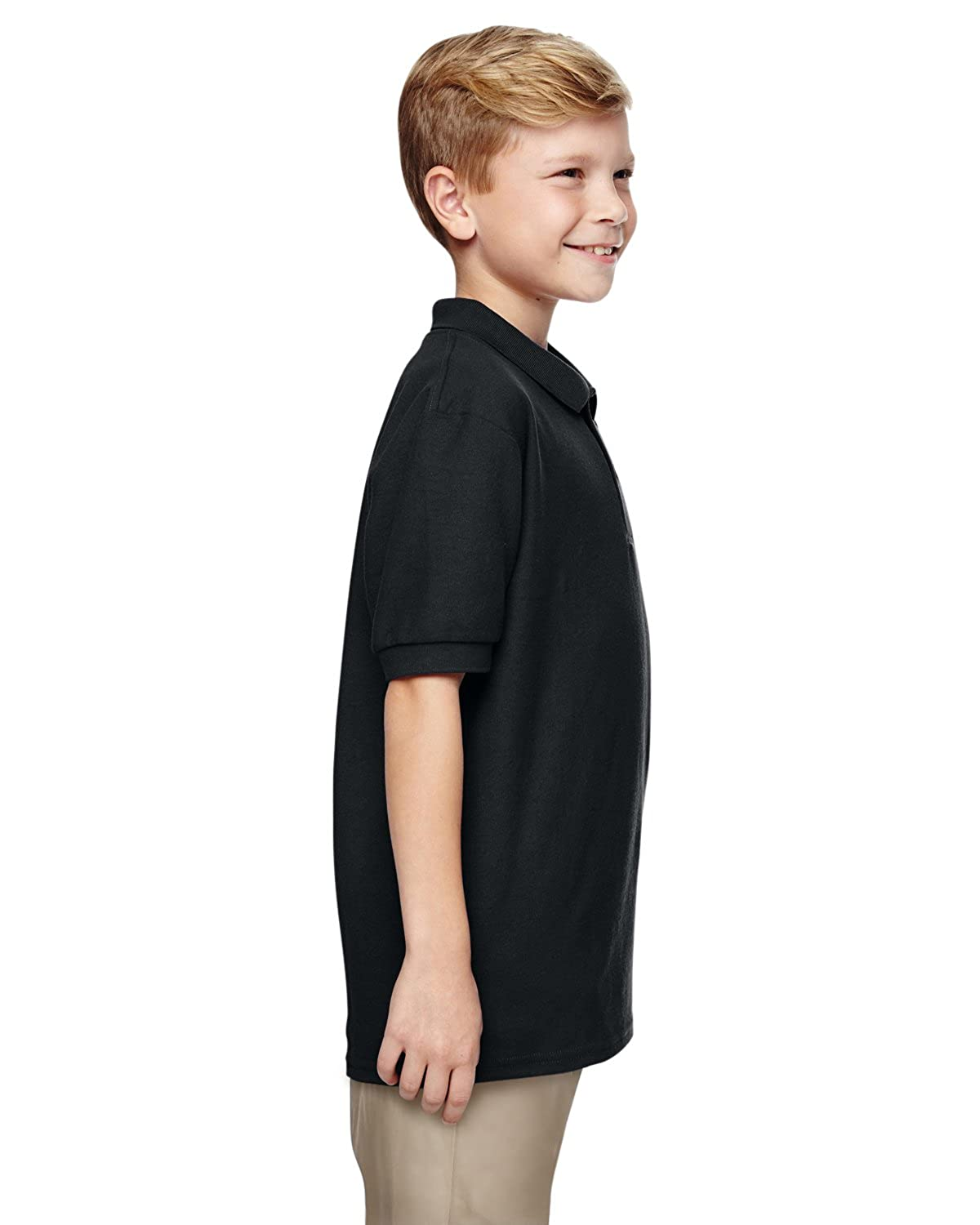 Gildan Big Boys Moisture Wicking Bottom Hem Pique Polo Shirt