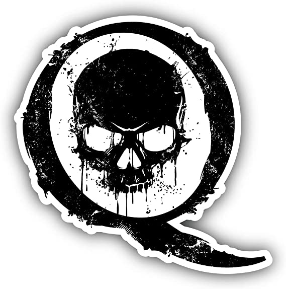 Amazon Com Q Qanon Trump Skull Punisher Grunge Vinyl Sticker Car Bumper Decal Clothing
