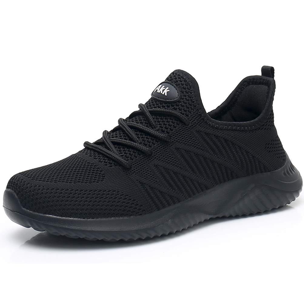 Akk Womens Walking Tennis Shoes - Slip On Memory Foam Lightweight Casual Sneakers for Gym Travel Work