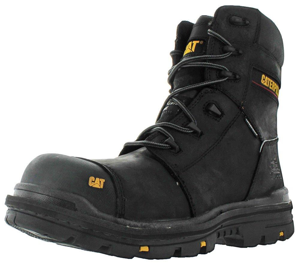 Caterpillar Men's Mortise 8'' Waterproof Work Boot Composite Toe Black 13 D(M) US