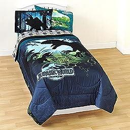 Jurassic World Twin Comforter Micofiber Boys Dinosaur Bedding