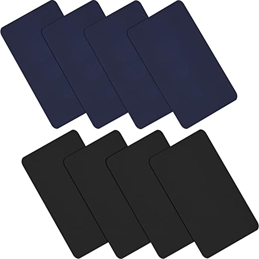 Willbond 15 Pieces Nylon Repair Patches Self-adhesive Nylon Patch Waterproof Lightweight Repair Patches for Clothing Down Jacket Repair Holes Tearing Black