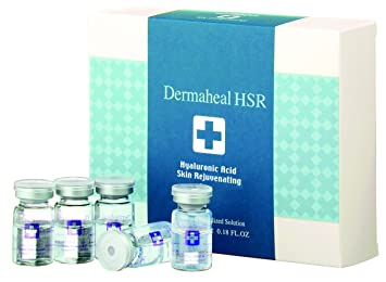 Dermaheal - HSR - Hyaluronic Acid Skin Rejuvenating Biological Sterilized Solution - 10x5ml/0.17oz SpaScription 3pk Clay, Charcoal & Dead Sea Face Mask With Applicator