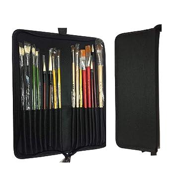 Estuche para lápices con 18 compartimentos, de lona, con ...