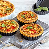 Laxinis World 5 Inch Quiche Pans with Removable