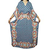 Mogul Interior Womens Caftan Kimono Sleeves Ahhalaya Cover up Kaftan Boho Beach Dress