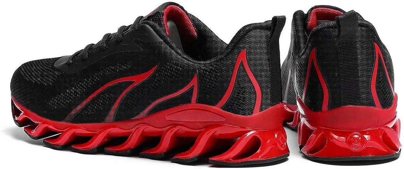 Pozvnn Mens Running Sneakers Shoes for Men Mesh Breathable Trail Runners Fashion Athletic Sport Walking