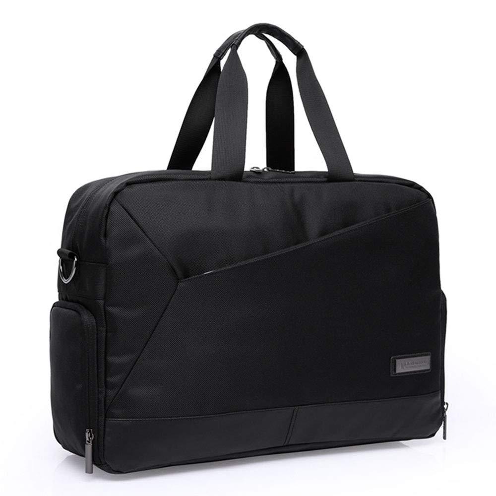 Color : Black Ybriefbag Unisex Shoulder Diagonal Laptop Bag Light Travel Bag Portable Business Bag Vacation